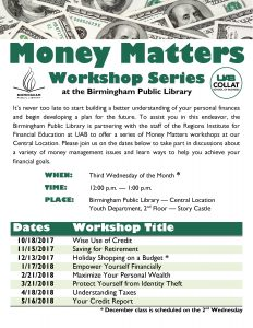 Money Matters Workshop – Wise Use of Credit