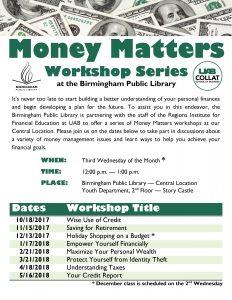 Money Matters Workshop – Empower Yourself Financ...