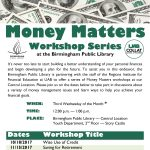 Money Matters Workshop – Maximize Your Personal Wealth