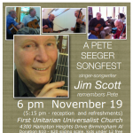 Pete Seeger Songfest–Jim Scott Remembers Pete in Song