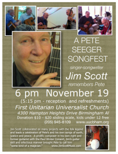 Pete Seeger Songfest–Jim Scott Remembers Pete in...