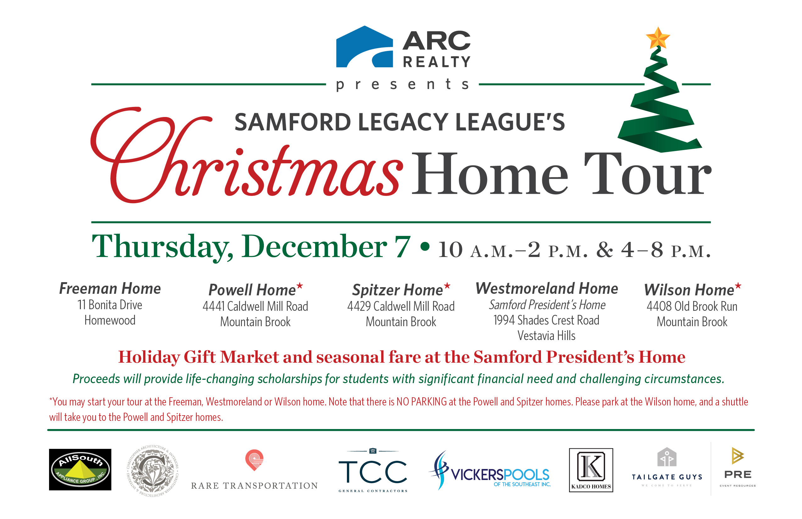 Christmas home tour and holiday market presented by for Mitchell s fish market birmingham