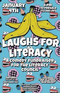 Laughs for Literacy at Saturn