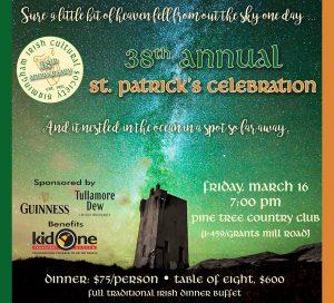 38th Annual St. Patrick's Dinner presented by Birmingham Irish Cultural Society