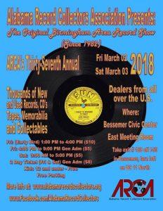 Alabama Record Collectors Association CD & Record Show
