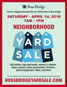 Ross Bridge Neighborhood-Wide Yard Sale