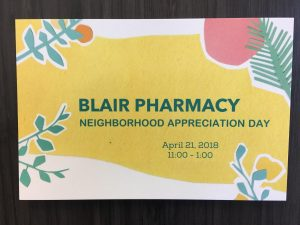 Blair Pharmacy Neighborhood Appreciation Day!