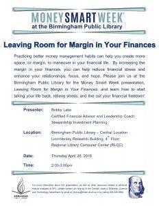 Leaving Room for Margin in Your Finances