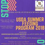 National Hook-up of Black Women USDA Summer Feeding Program 2018
