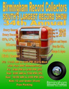 Birmingham Record Collectors 34th Annual Show