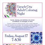 Upcycle City: Adult Coloring Night