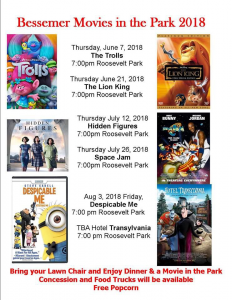 Bessemer Movies in the Park