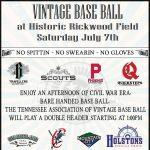 Vintage Base Ball at Historic Rickwood Field