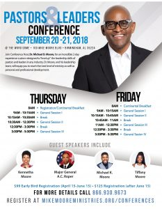2018 Pastors and Leaders Conference: Registration