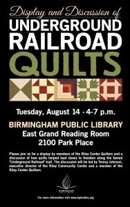 Display and Discussion of Underground Railroad Quilts