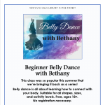 Fall Series: Beginner Belly Dance with Bethany