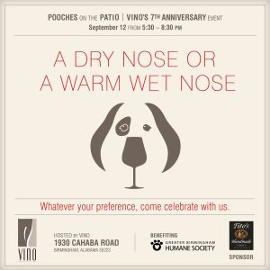 Pooches on the Patio – Vino 7th Anniversary Event