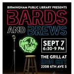 Bards & Brews Open Mic Poetry Event at Iron City