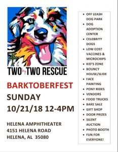 Two by Two Rescue's 4th Annual Barktoberfest