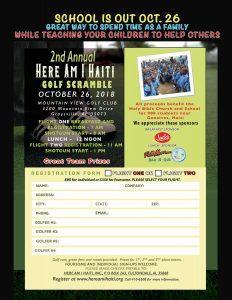 2nd Annual Here Am I Haiti Golf Scramble