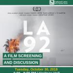 Cultural Lens Film and Speaker Series: LA 92 Film Screening & Discussion
