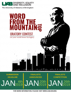 "King Week 2019 ""Word From the Mountain Top"" Orator..."