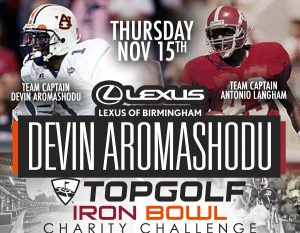 Lexus of Birmingham Top Golf Iron Bowl Charity Cha...