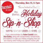 Holiday Sip N Shop