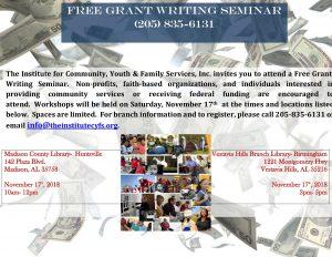 Free Grant Writing Class