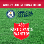 Guinness Book of World Records® Attempt for Largest Human Shield