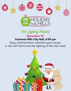 Holiday in the Hills Tree Lighting Festival