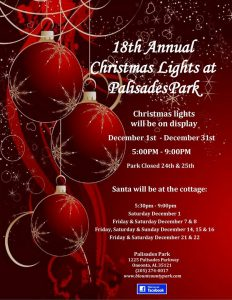 18th Annual Christmas Lights at Palisades Park
