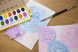 Art Cart: Watercolor Snowflakes