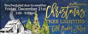 2nd Annual Christmas on the Farm at Old Baker Farm