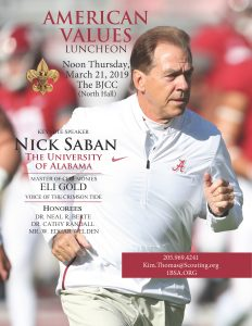 2019 American Values Luncheon with Coach Nick Saban