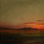 Slow Art Sunday: Sunset, Haywagon in the Distance