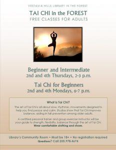 Adult Tai Chi Beginner and Intermediate