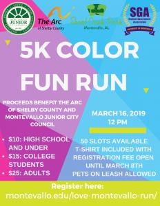 MJCC 5k Color Fun Run
