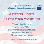 Voting Rights Restoration Workshop
