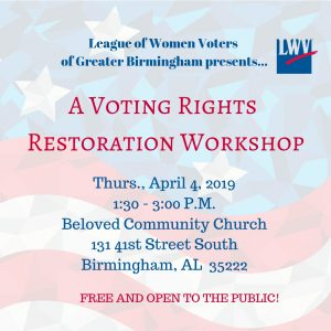 Voting Rights Restoration Workshop