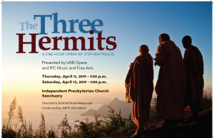 "UAB Opera performance of ""The Three Hermits"""