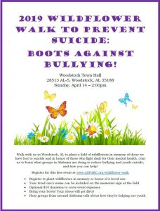 2nd Annual Wildflower Walk to Prevent Suicide and Bullying