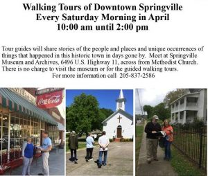 April Walking Tours - Springville