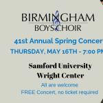 Birmingham Boys Choir Spring Concert
