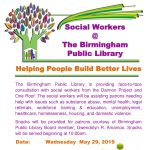 Social Workers at The Birmingham Public Library