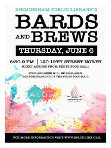Bards & Brews Open Mic at Birmingham Art Crawl...