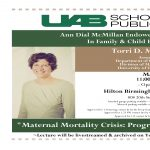 The Ann Dial McMillan Endowed Lectureship in Family and Child Health