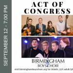 Birmingham Boys Choir Collaborates with Act of Congress