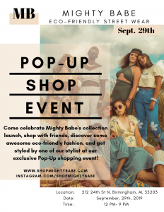 Mighty Babe Pop-Up Shop