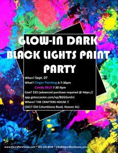 Glow in Dark Paint Night